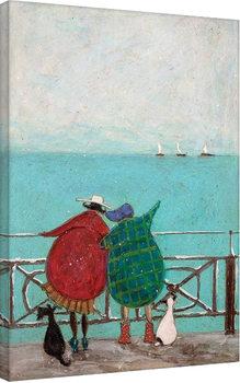 Sam Toft - We Saw Three Ships Come Sailing By På lærred