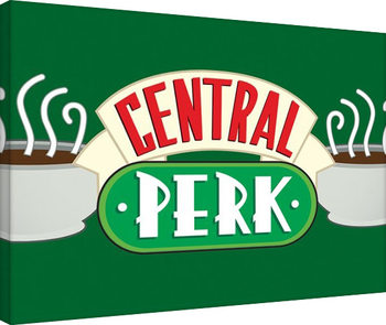 Venner - Central Perk Crop Green På lærred