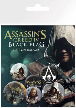 Paket značaka Assassins Creed 4 – black flag