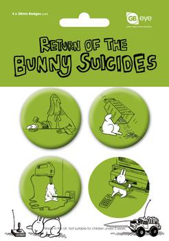 Paket značaka BUNNY SUICIDES - Pack 2