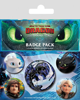 Paket značaka  How To Train Your Dragon - Familiar Faces