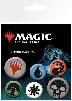 Paket značaka Magic The Gathering - Mana Symbols