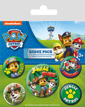 Paket značaka Paw Patrol - Jungle
