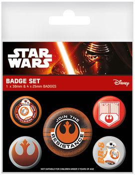Paket značaka Star Wars Episode VII - Resistance