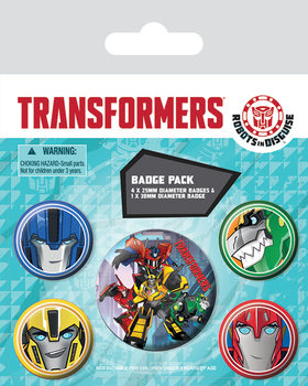 Paket značaka Transformers Robots In Disguise - Robots