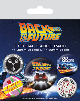 Paket značk Back To The Future - Delorean