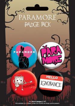 Paket značk PARAMORE - pack 2
