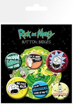 Paket značk  Rick and Morty - Mix
