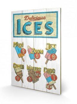 BARRY GOODMAN - delicious ices Panneau en bois