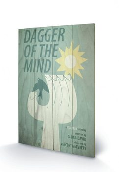 STAR TREK - dagger of the mind Panneau en bois