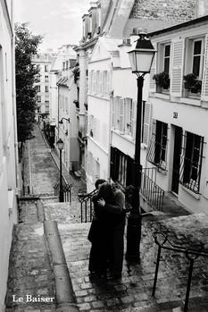 Paris - le baiser плакат