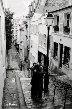 Paris - le baiser - плакат (poster)