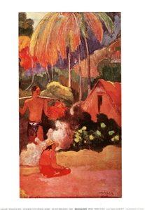 Paysage De Tahiti - Hory na Tahiti Festmény reprodukció