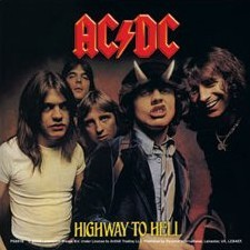 AC/DC - highway to hell pegatina