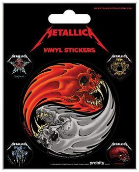 Metallica - Yin & Yang Skulls Pushead pegatina