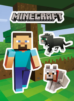 Minecraft - Steve and Pets - pegatina