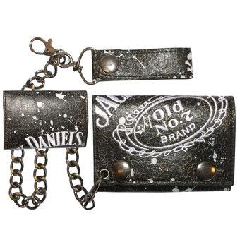 Jack Daniel's - Painted Trifold Chain Wallet Pénztárca