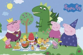 PEPPA PIG - princess picnic - плакат (poster)