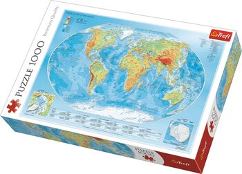 Πъзели Physical Map of the World
