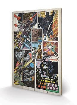 Star Wars - Retro Comic Pictură pe lemn