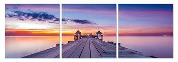 Cuadro Pier at sunset