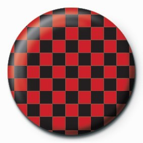 Pin -  CHECK (RED & BLACK)