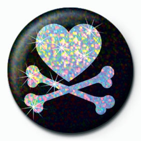 HEART AND CROSSBONES - pin