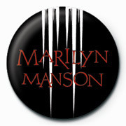 Pin - Marilyn Manson - White speaker