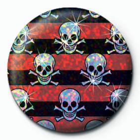 Pin -  MULTI SKULL - Red