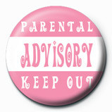 Pin - Parental Advisory (Pink)
