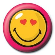 Pin - SMILEY - heart eyes