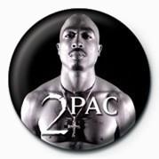Pin - Tupac (B&W)