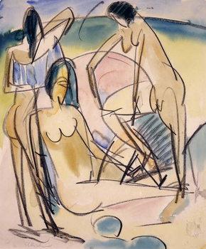 Cuadros en Lienzo Bathers on the Shore, Fehmarn,