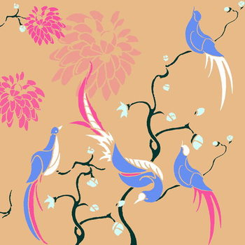 Cuadros en Lienzo Blossom Birds