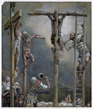 Cuadros en Lienzo Breaking of the Thieves' Legs, illustration for 'The Life of Christ', c.1886-94