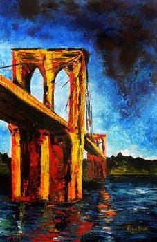 Cuadros en Lienzo Brooklyn Bridge to Utopia, 2009