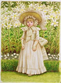 Cuadros en Lienzo Child in a White Dress, c.1880