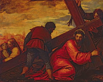 Cuadros en Lienzo Christ Sinking under the Weight of the Cross