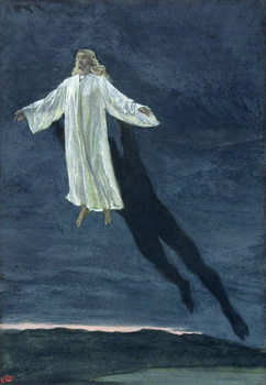 Cuadros en Lienzo Christ Taken Up into a High Mountain, illustration for 'The Life of Christ', c.1886-94