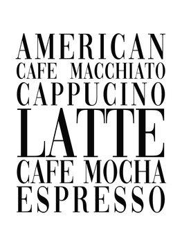 Cuadros en Lienzo coffee list