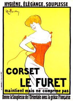 Cuadros en Lienzo Corset print ad by Leonetto Cappiello around 1901