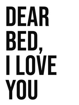 Cuadros en Lienzo Dear bed I love you