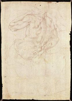Cuadros en Lienzo Drawing of a male standing figure