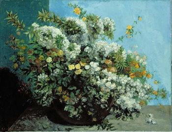 Cuadros en Lienzo Flowering Branches and Flowers, 1855