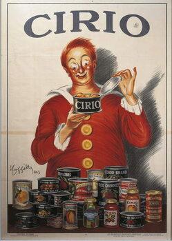 Cuadros en Lienzo Advertisement for Cirio food preserve, by Leonetto Cappiello , illustration, 1923