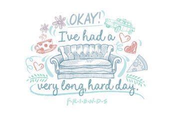 Cuadros en Lienzo Friends - I've had a very long, hard day