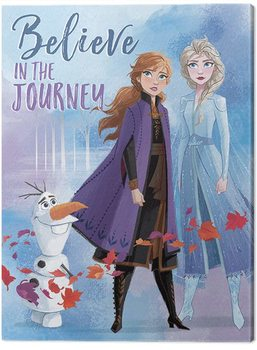 Cuadros en Lienzo Frozen, el reino del hielo 2 - Believe in the Journey