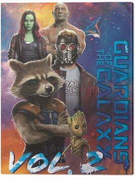 Cuadros en Lienzo Guardians of The Galaxy Vol. 2 - The Guardians