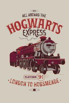 Cuadros en Lienzo Harry Potter - El expreso de Hogwarts