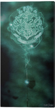 Cuadros en Lienzo Harry Potter - Hogwarts Crest Patronus
